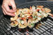Tossing a few shrimp on the barbie